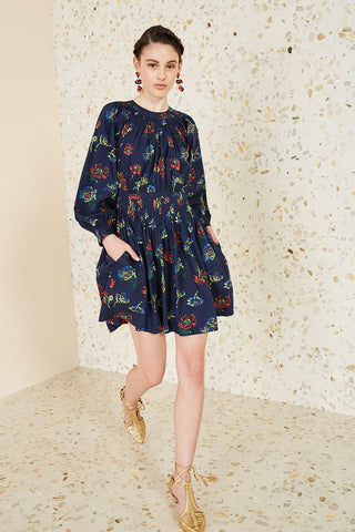 Joelle Midnight Floral Dress