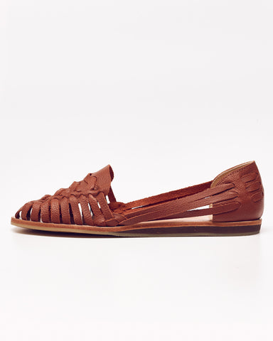 Nisolo Brown Woven Leather Flats