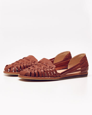 Nisolo Burnt Sienna Woven Leather Huaraches
