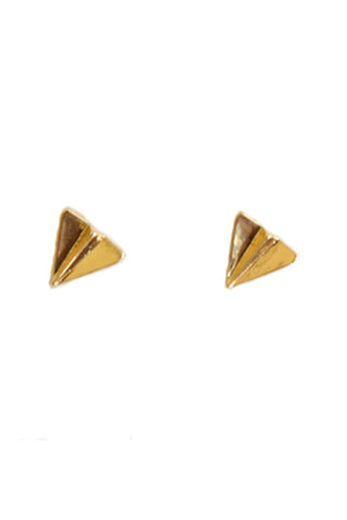 Paper Plane Stud Earrings