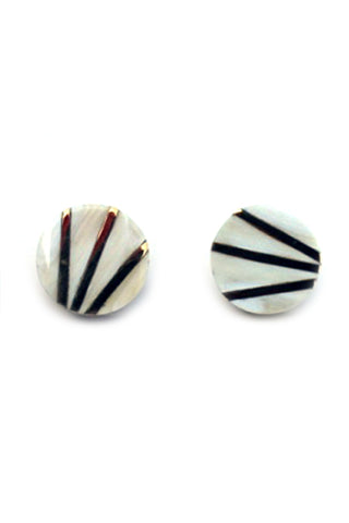 Baga Horn Stud Earrings