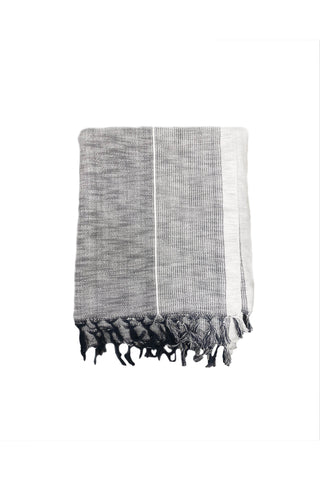 Grey Stripe Tribeca Throw