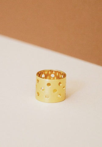 Pierced Statement Band Ring