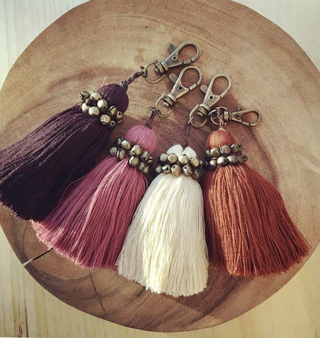 Beaded Tassel Keyring