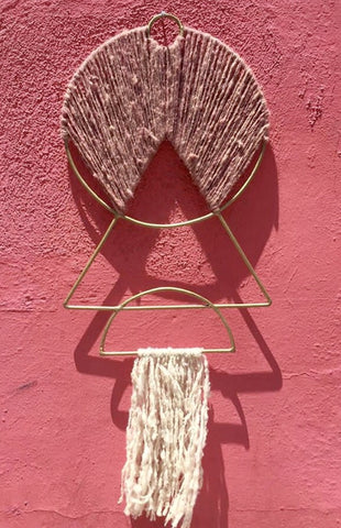 Iron Pink Triangle Wall Hanging