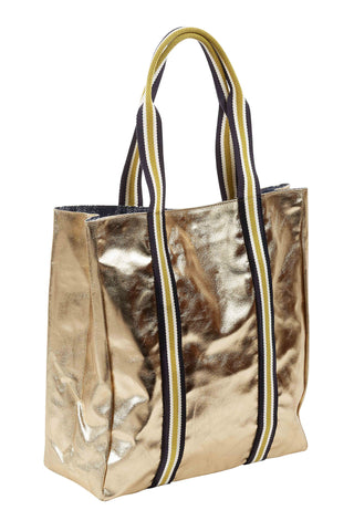 Dita Metallic Gold Tote Bag