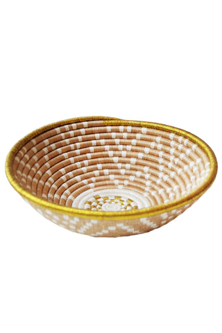Metallic Gold Plateau Basket