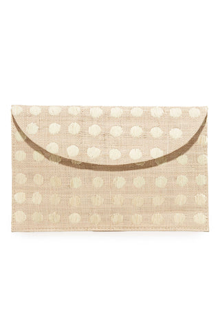 Tulum Embroidered Dot Clutch