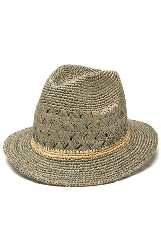 Avery Dove Crocheted Fedora