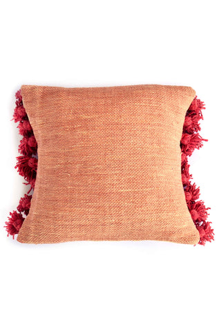 Foot Loom Wool Tassel Pillow