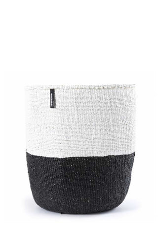 Kiondo Black & White Color Block Basket