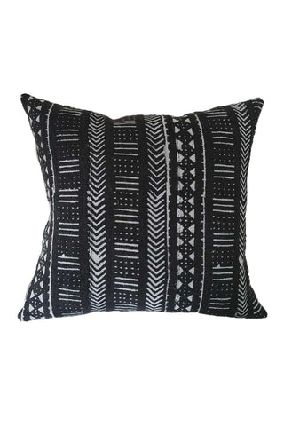 Ebony African Mudcloth Pillow