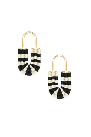 Black and White Afrika Lock Earrings