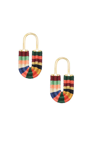 Multicolored Afrika Lock Earrings