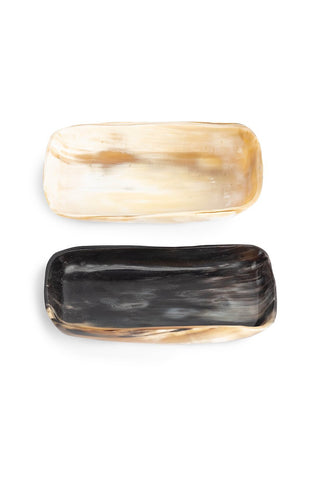 Rectangular Cow Horn Bowl