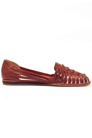 Nisolo Huarache Brown Woven Leather Flats