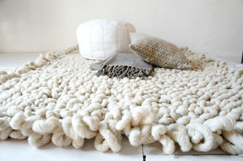 Palomita Cream Wool Rug