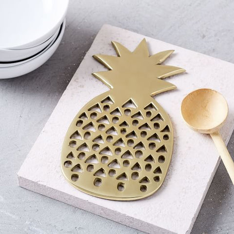 Gold Pineapple Trivet