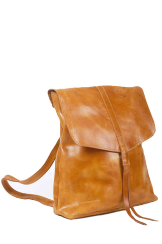 Yami Brown Leather Backpack