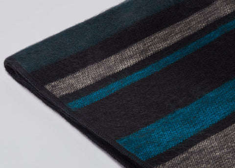 Modern Onyx Alpaca Throw