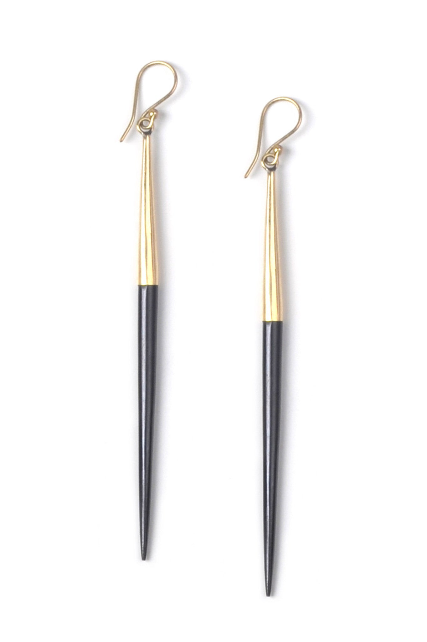 Soko Capped Quill Dangle Earrings Black dbbSyFQLV2