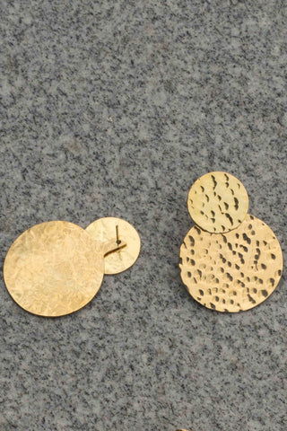 Hammered Coin Jacket Stud Earrings