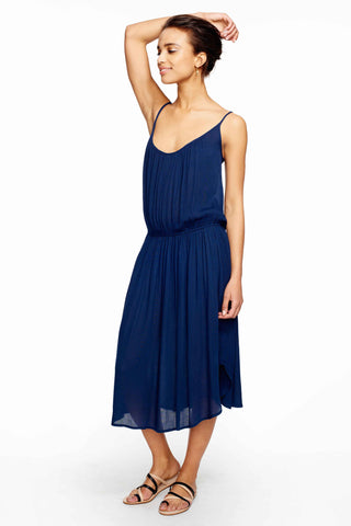 Tiber Navy Strappy Midi Dress