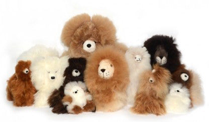 "Baby Alpaca Bears from Shupaca. So incredibly soft, you won't want to give it up to the person you bought it for...and we're so not kidding. 100% Baby Alpaca (which, by the way, simply refers to the softest fur of an adult alpaca). All ethically sourced and made in Peru. Natural color may vary slightly.  Micro: 8""H Small: 11""H Medium: 16""H"