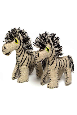 Wool Zebra Stuffed Animal