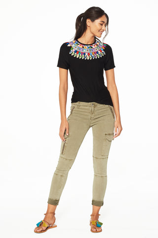 Elina Embroidered Tee