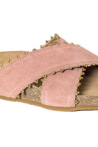 Babette Blush Suede Slide