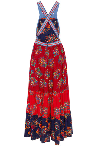Lune Embroidered Floral Patchwork Dress