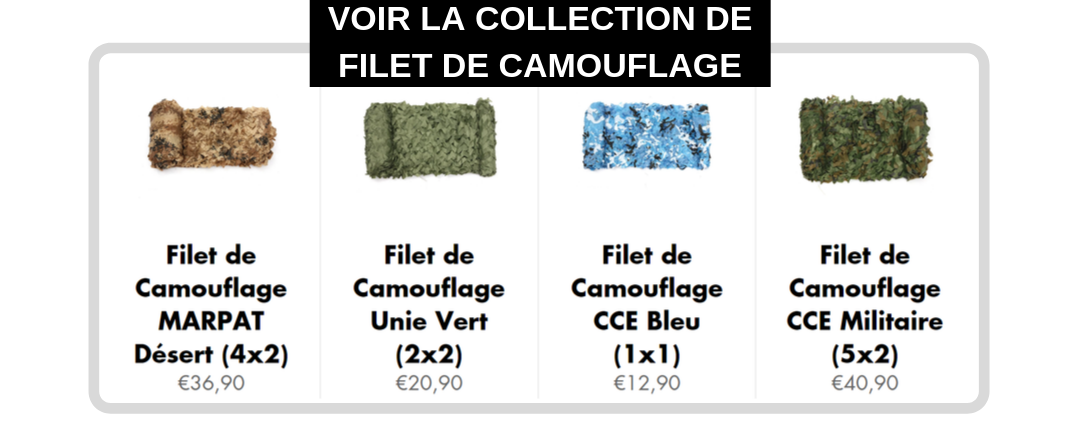 collection filet de camouflage