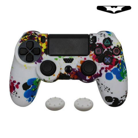 Coque de manette ps4 arc en ciel blanc | Univers Camouflage