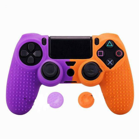 Coque de manette ps4 violet et orange | Univers Camouflage