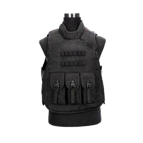 Gilet Tactique Noir Airsoft | Univers Camouflage