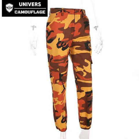 Pantalon Camouflage Femme Orange | Univers Camouflage
