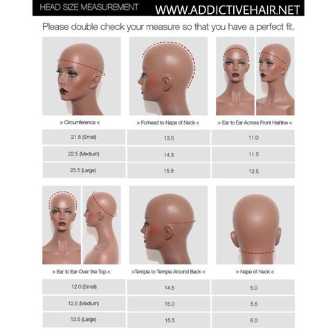 Wig cap sizes/ measurements