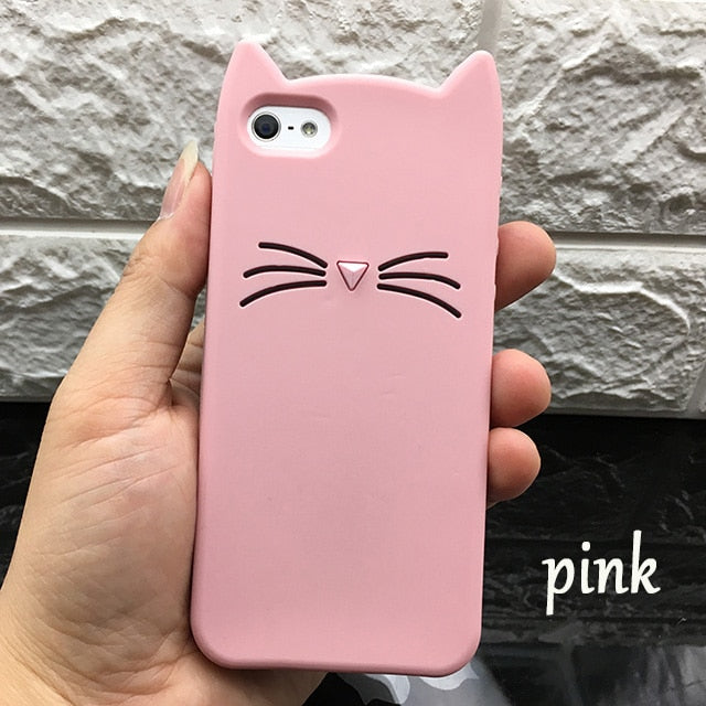 Cute 3D Silicone Cat Case