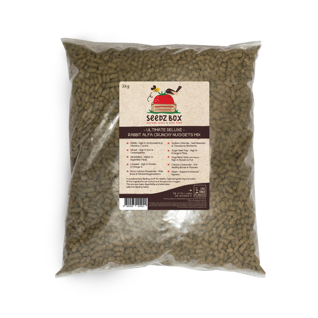 Seedzbox Ultimate Deluxe Rabbit Alfa Crunchy Nuggets Mix 2kg  - 5% of Sales donated to OneTreePlanted