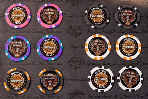 Grand Teton Harley-Davidson poker chips