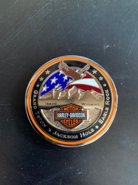 Eagle Rock Harley-Davidson challenge coin - back
