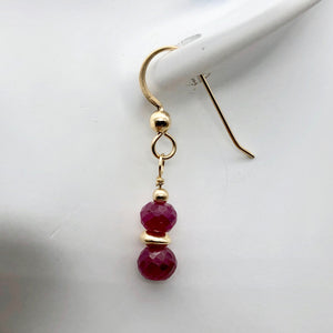 Ruby and 14K Gold Filled Earrings