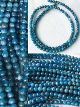 Load image into Gallery viewer, 17 Stunning Blue Apatite 4mm Round Beads 008889B - PremiumBead Primary Image 1