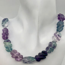 Load image into Gallery viewer, Magical! 3 Carved Fluorite Oval Beads - PremiumBead