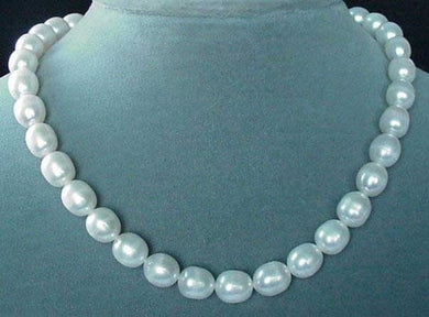 White Pear Shaped 9mm to 12mm FW Pearls Strand 103104 - PremiumBead