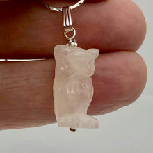Load image into Gallery viewer, Rose Quartz Owl Pendant Necklace | Semi Precious Stone Jewelry | Sterling Silver - PremiumBead