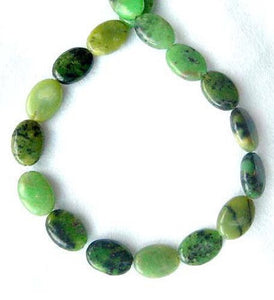 Shockingly Rare Chrysoprase Oval Bead Strand 108453 - PremiumBead Alternate Image 2