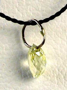 0.33cts Natural Canary Diamond White Gold Pendant 6568L - PremiumBead