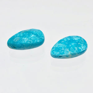 2 Faceted Turquoise Pear Briolette Beads | 18x12x5.5mm | Blue | 7410 - PremiumBead Alternate Image 5